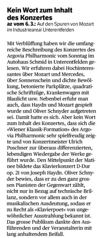 Pressespiegel - Oliver Schnyder